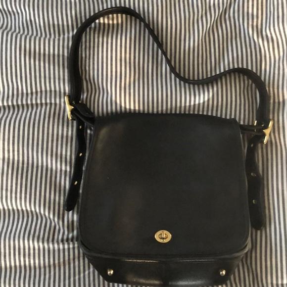 Coach Handbags - Vintage black Coach Stewardess shoulder bag
